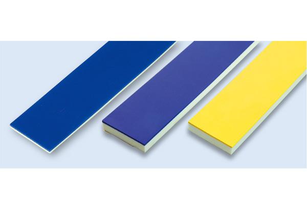 ゴム付ナラシバッカー(のり付)幅50mm 青ゴム+白バッカー(2+3)