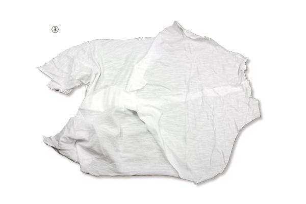 ③白メリヤス縫い合せウエス