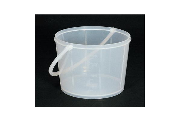 白ポリバケツ(大)白プラスチック柄 4L