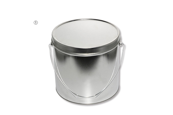 ①6L ブリキペール缶(かぶせフタ付)