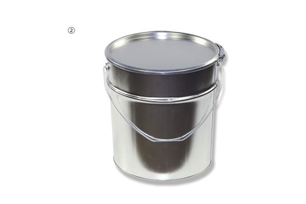 ②8L ブリキペール缶(フタ/バンド付)