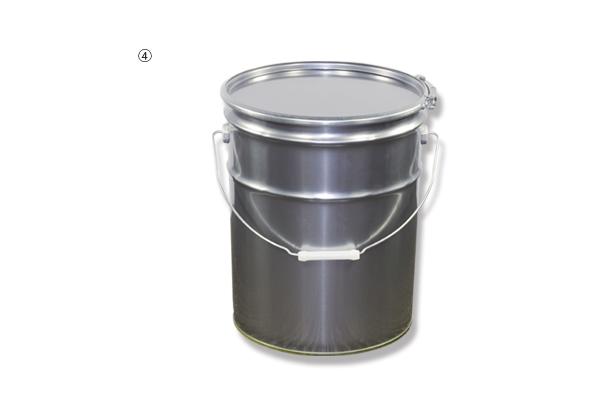 ニス引きペール缶 20L (フタ+バンドのみ)