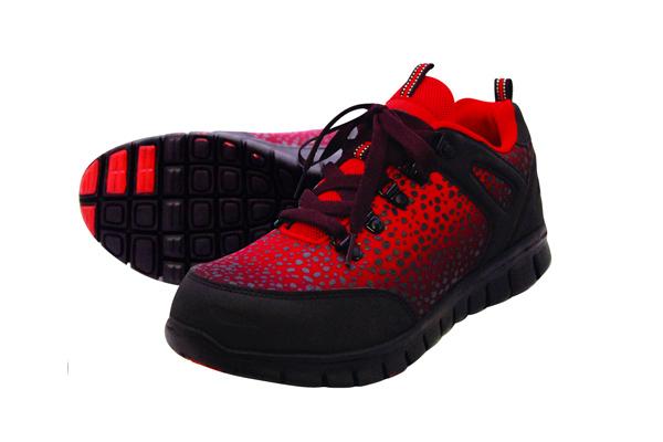 グラデーション安全靴 No.6505 レッド