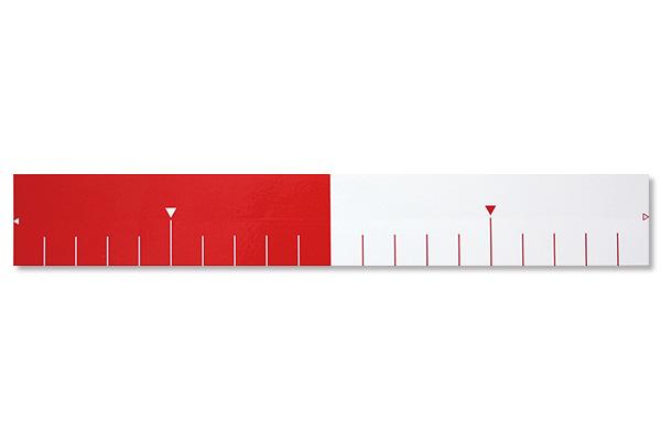 紅白メジャーシール20 ㎝(5枚入)