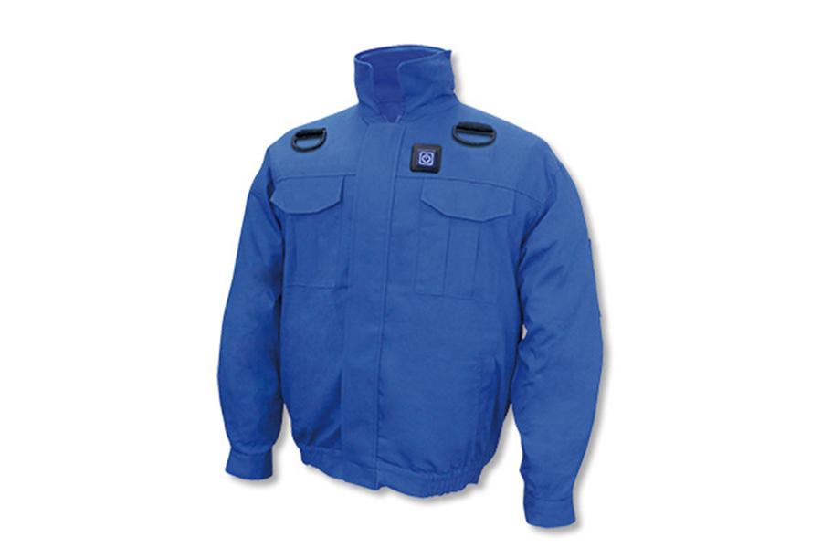 BR-7000 胸スイッチ式 空調エアコン®服(高密度綿100%)フルセット(ブルー)
