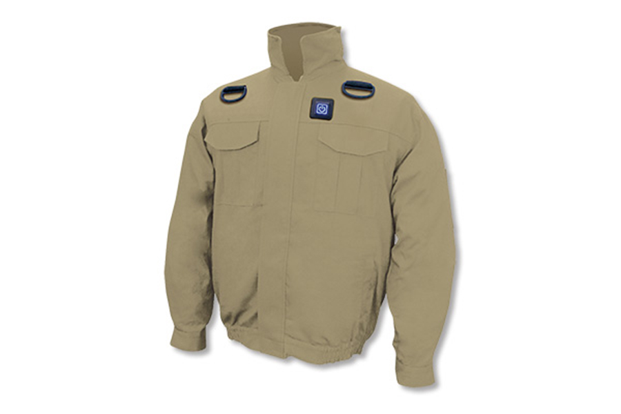 BR-7000 胸スイッチ式 空調エアコン®服(高密度綿100%)フルセット(カーキ)