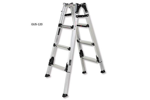 アルインコ 伸縮脚付はしご兼用脚立 GUS