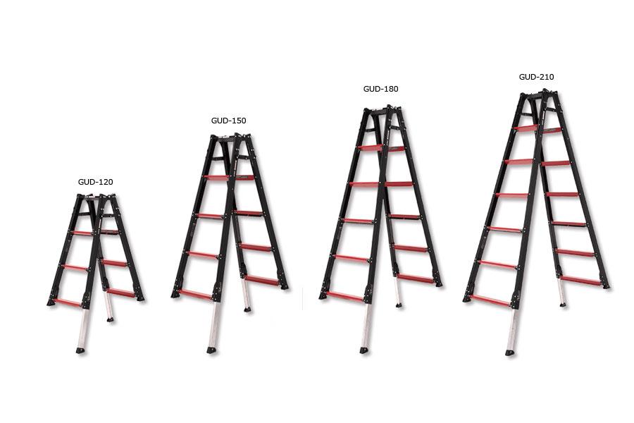 アルインコ 伸縮脚付はしご兼用脚立 GUD