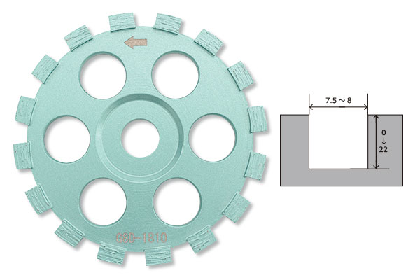 LINAX クリーンカッター HC -10M用 グルーバー8